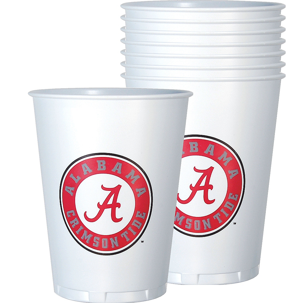 Alabama Crimson Tide Plastic Cups 8ct Image #1