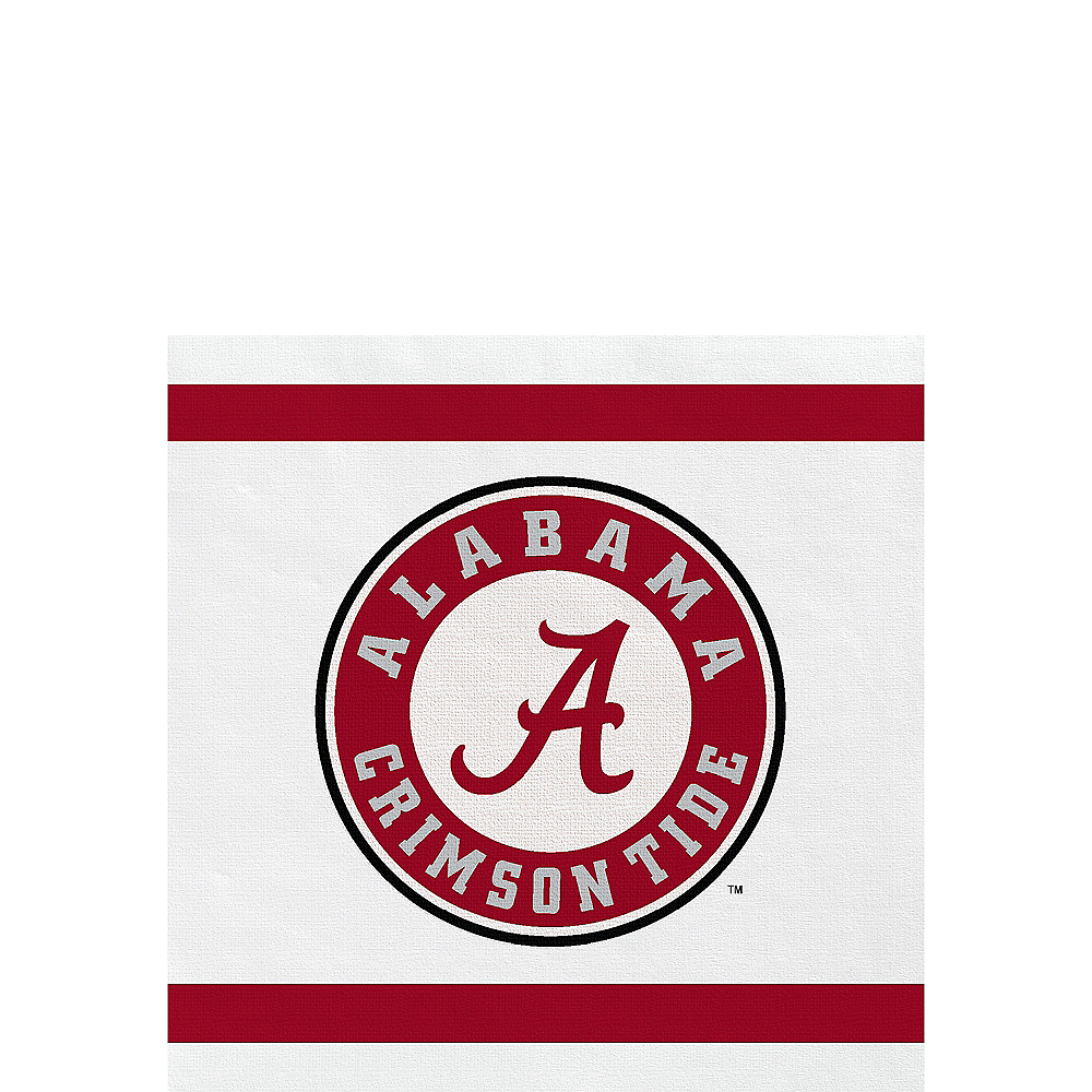 Alabama Crimson Tide Beverage Napkins 24ct Image #1