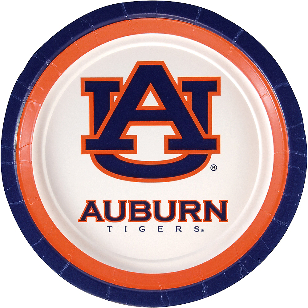 Auburn Tigers Lunch Plates 10ct Image #1