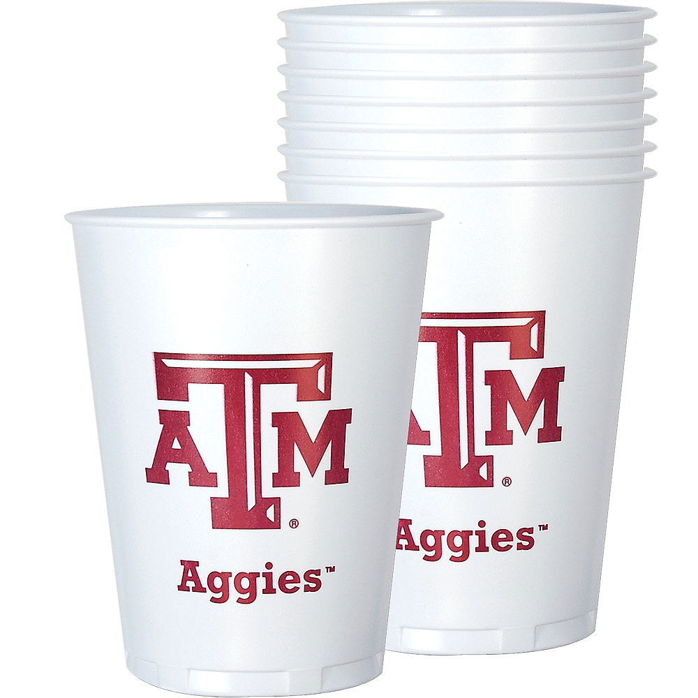 Texas A&M Aggies Plastic Cups 8ct Image #1