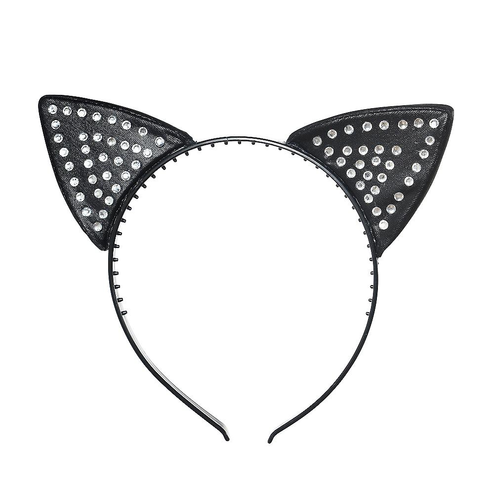 Rhinestone Cat Ears Headband Image #1