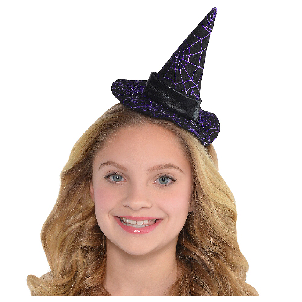 Spider Web Witch Hat Headband Image #1