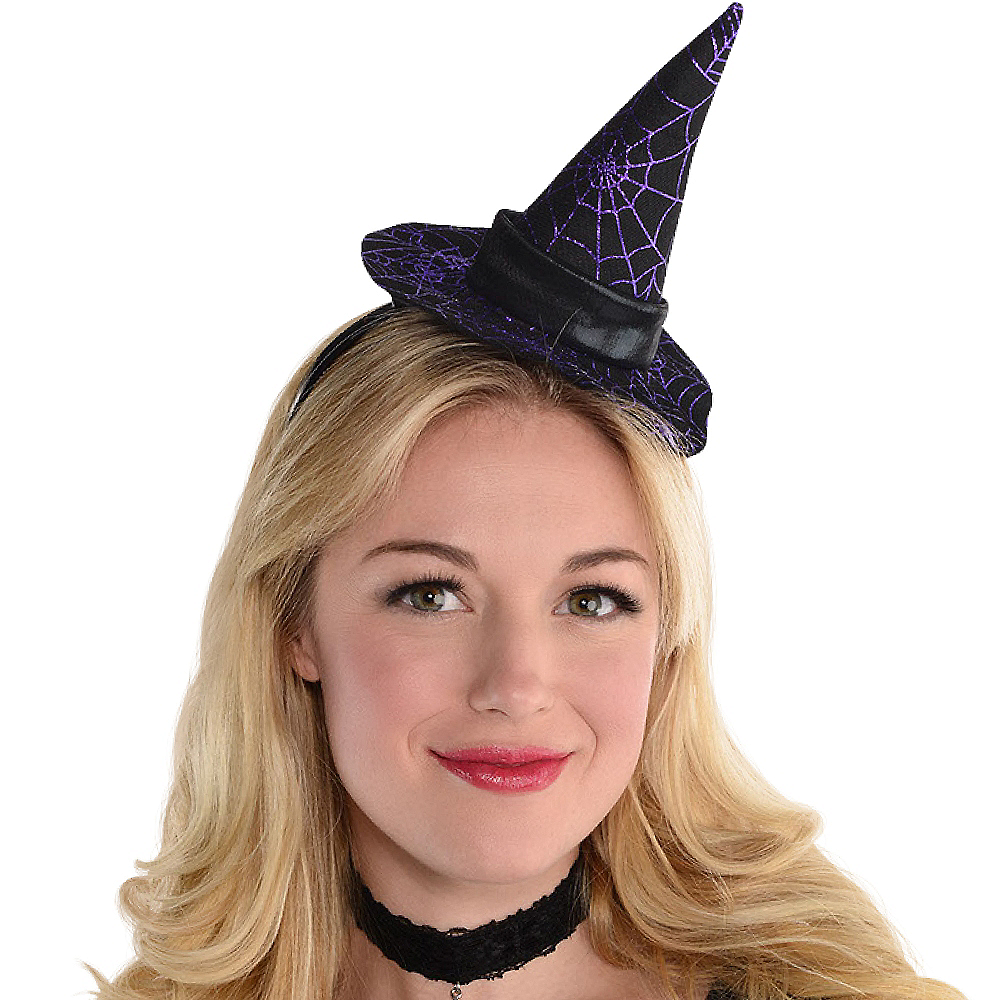 Spider Web Witch Hat Headband Image #2