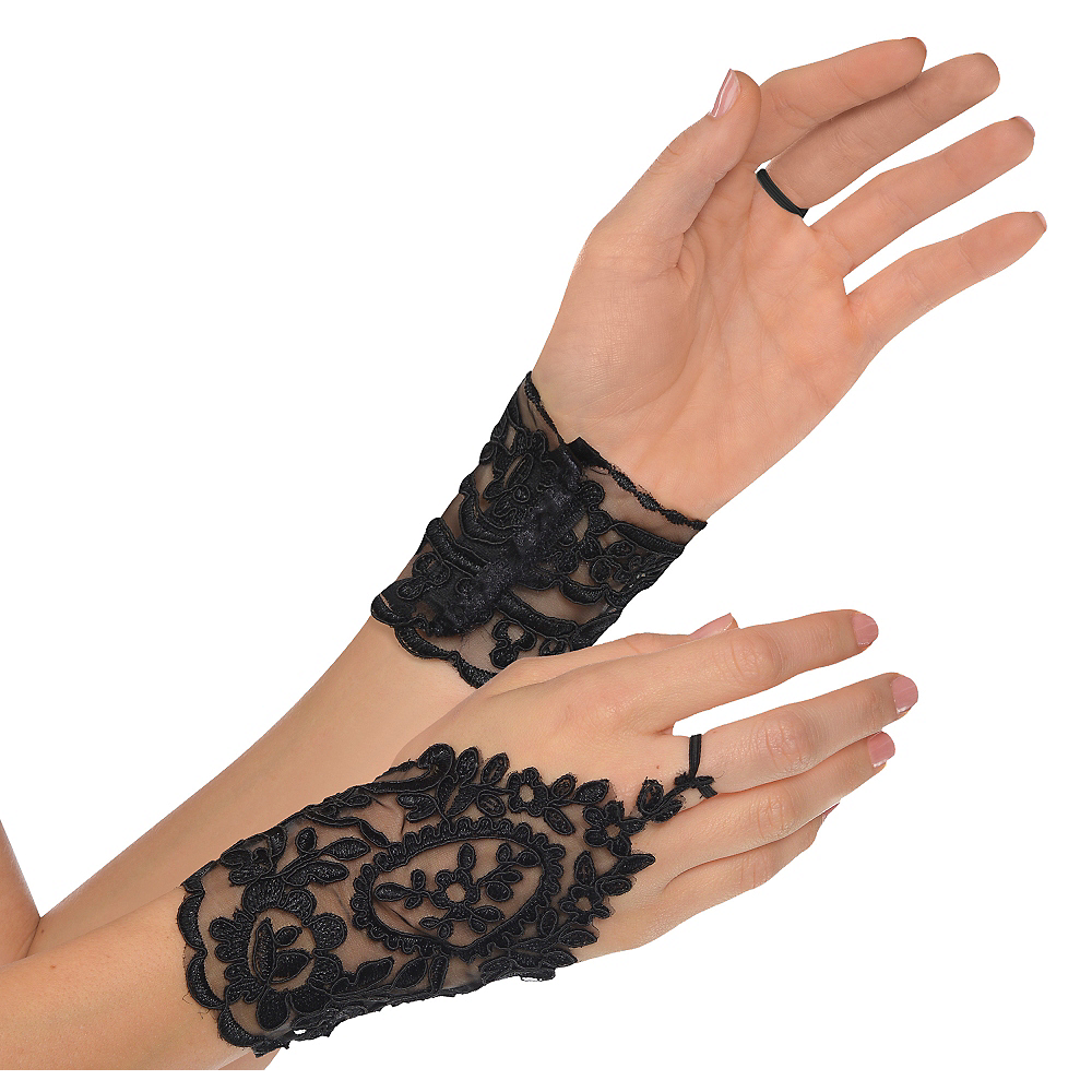 Black Lace Glovelettes Image #1