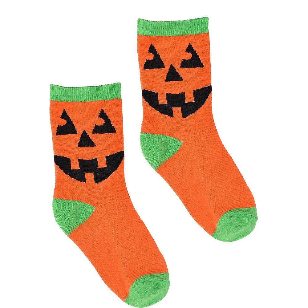 Child Jack-o'-Lantern Crew Socks Image #2
