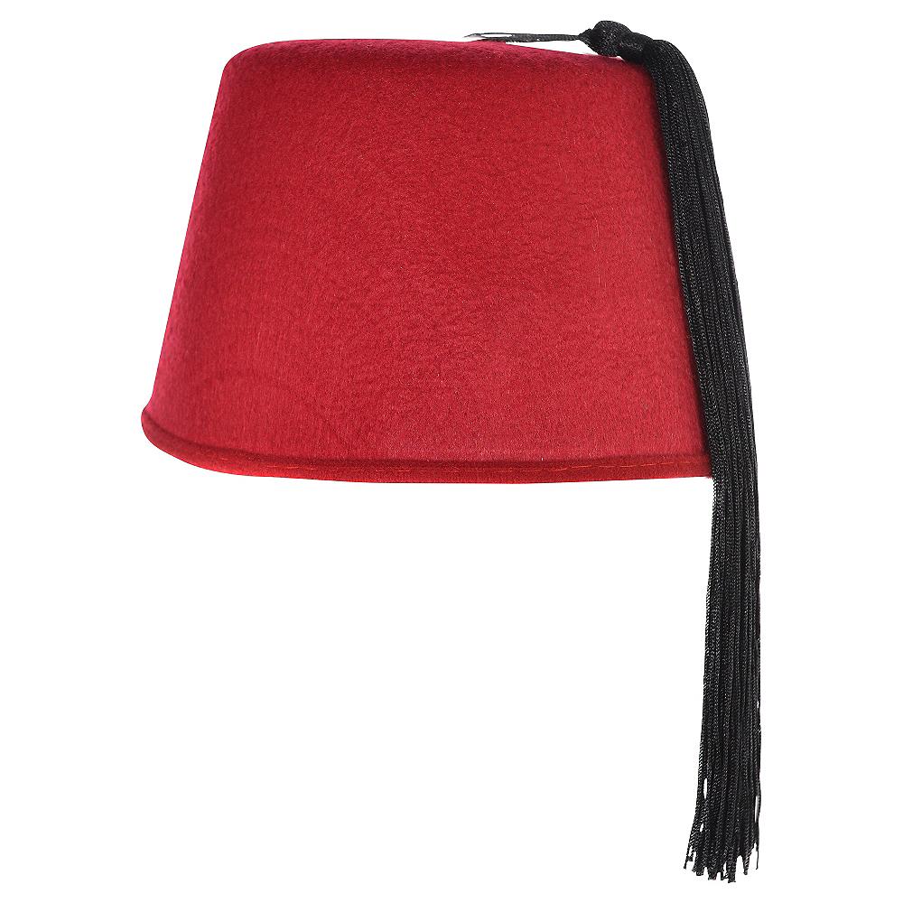 Burgundy Fez Hat Image #1