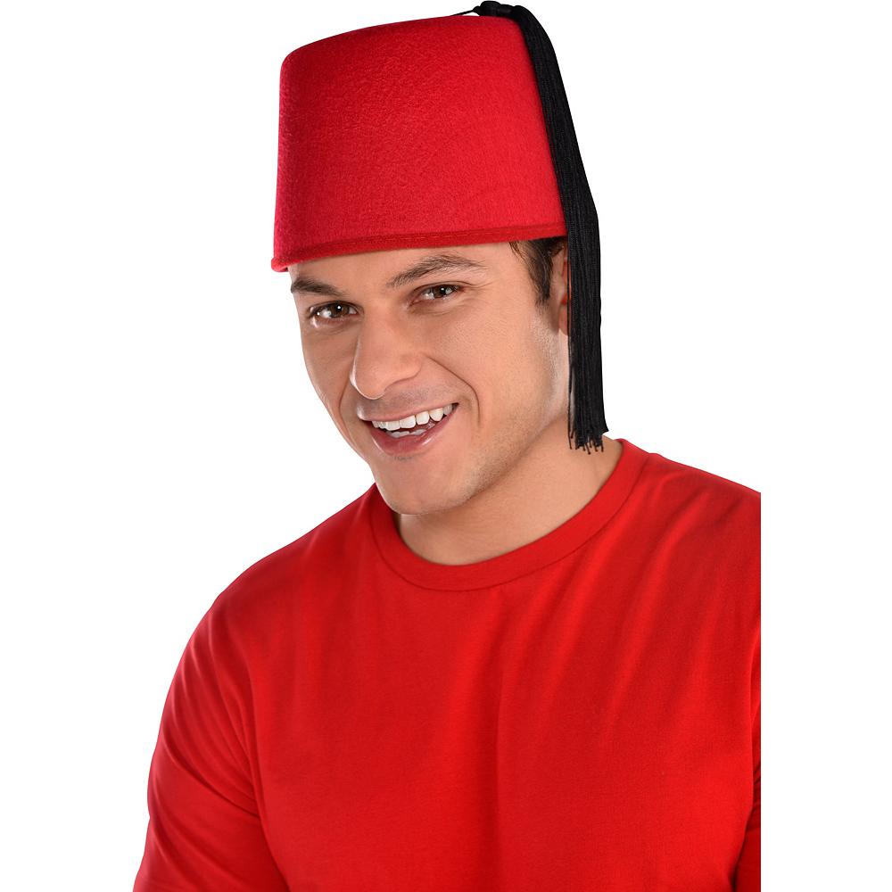 Burgundy Fez Hat Image #2