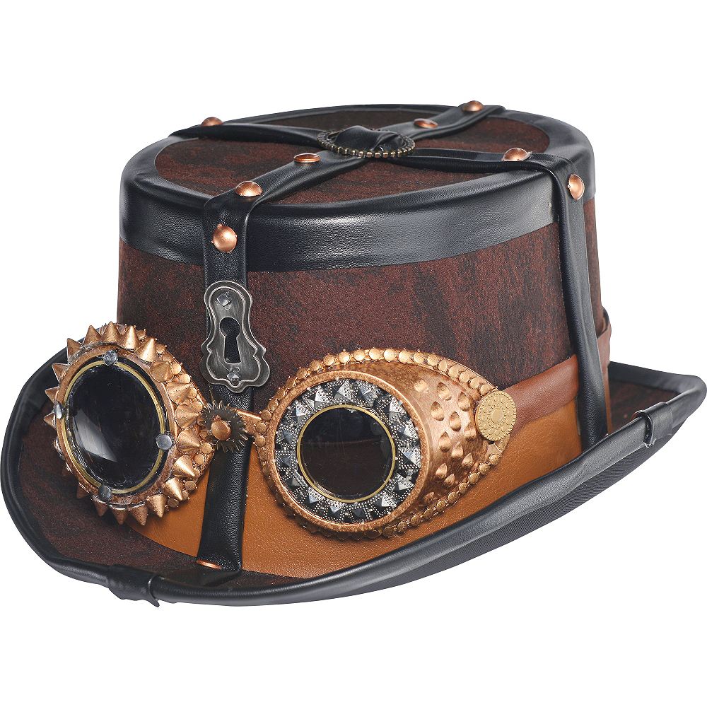 Nav Item for Steampunk Top Hat Deluxe Image  1 ... d00b1382f7d2