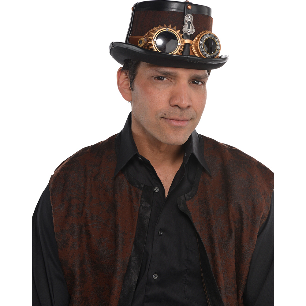 Steampunk Top Hat Deluxe Image #2
