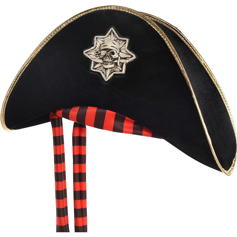Black Skull & Crossbones Pirate Hat Image #1
