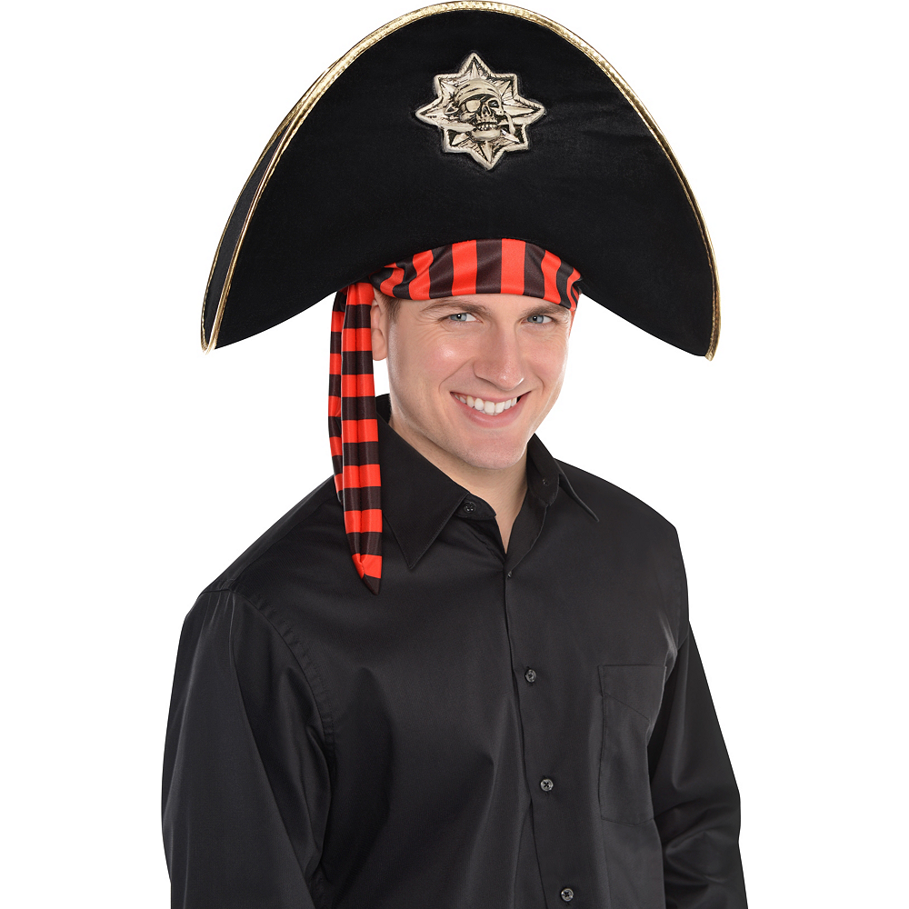 Black Skull & Crossbones Pirate Hat Image #2