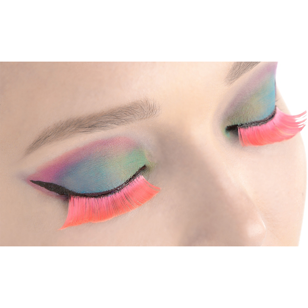 Self-Adhesive Hot Pink False Eyelashes Image #1