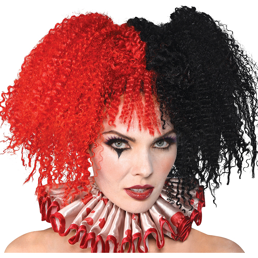Jesterina Red & Black Wig Image #1