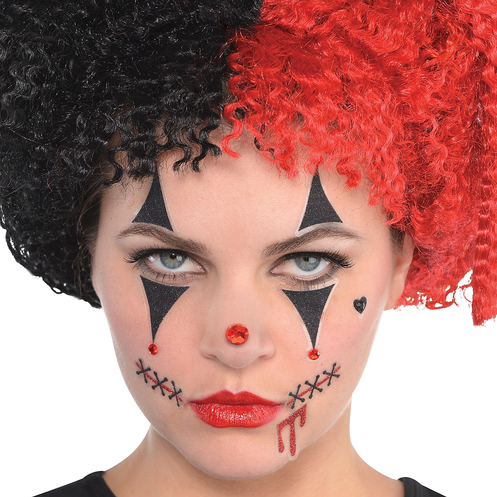 Evil Clown Face Stickers - Freak Show Image #2