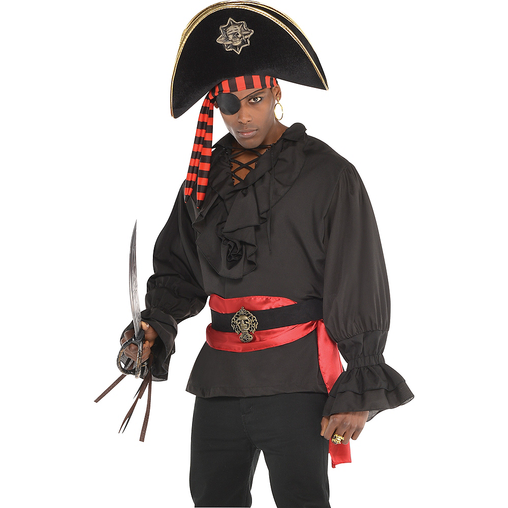 Black Pirate Shirt Deluxe Image #1