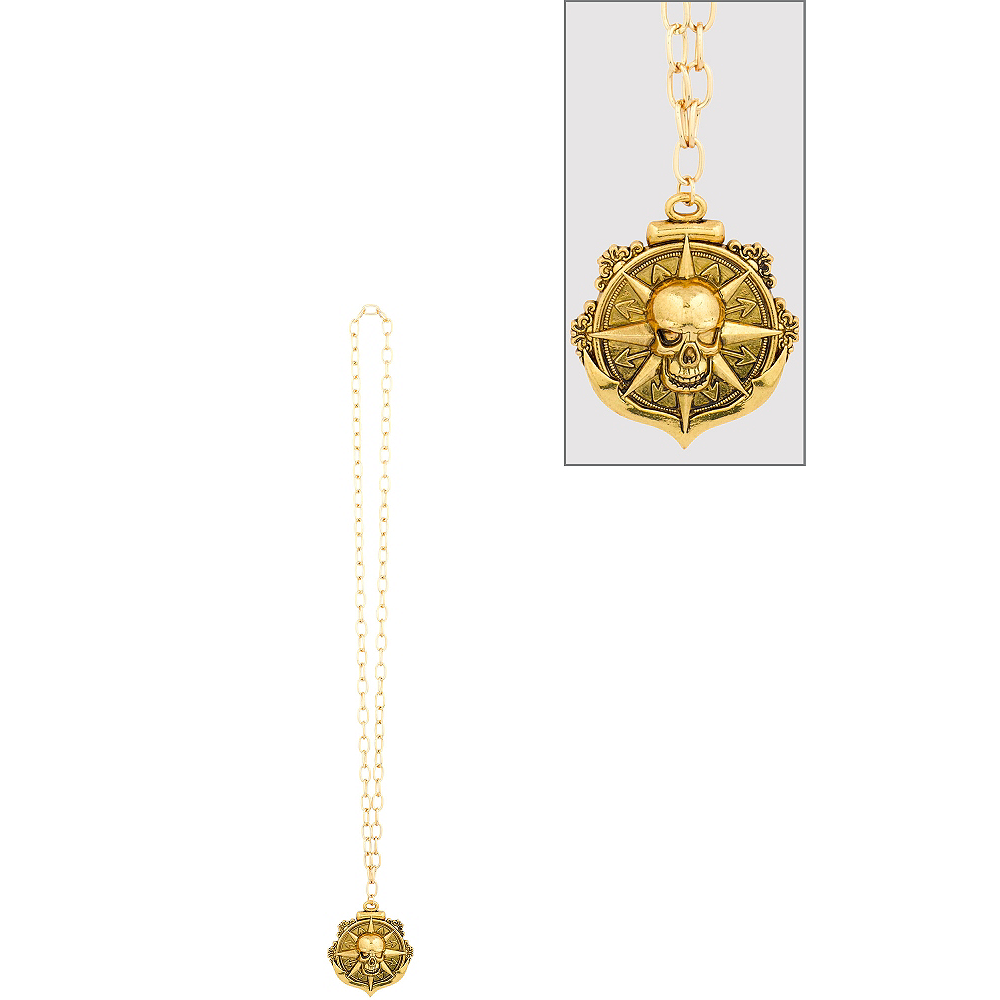 Compass Medallion Pirate Necklace Image #1