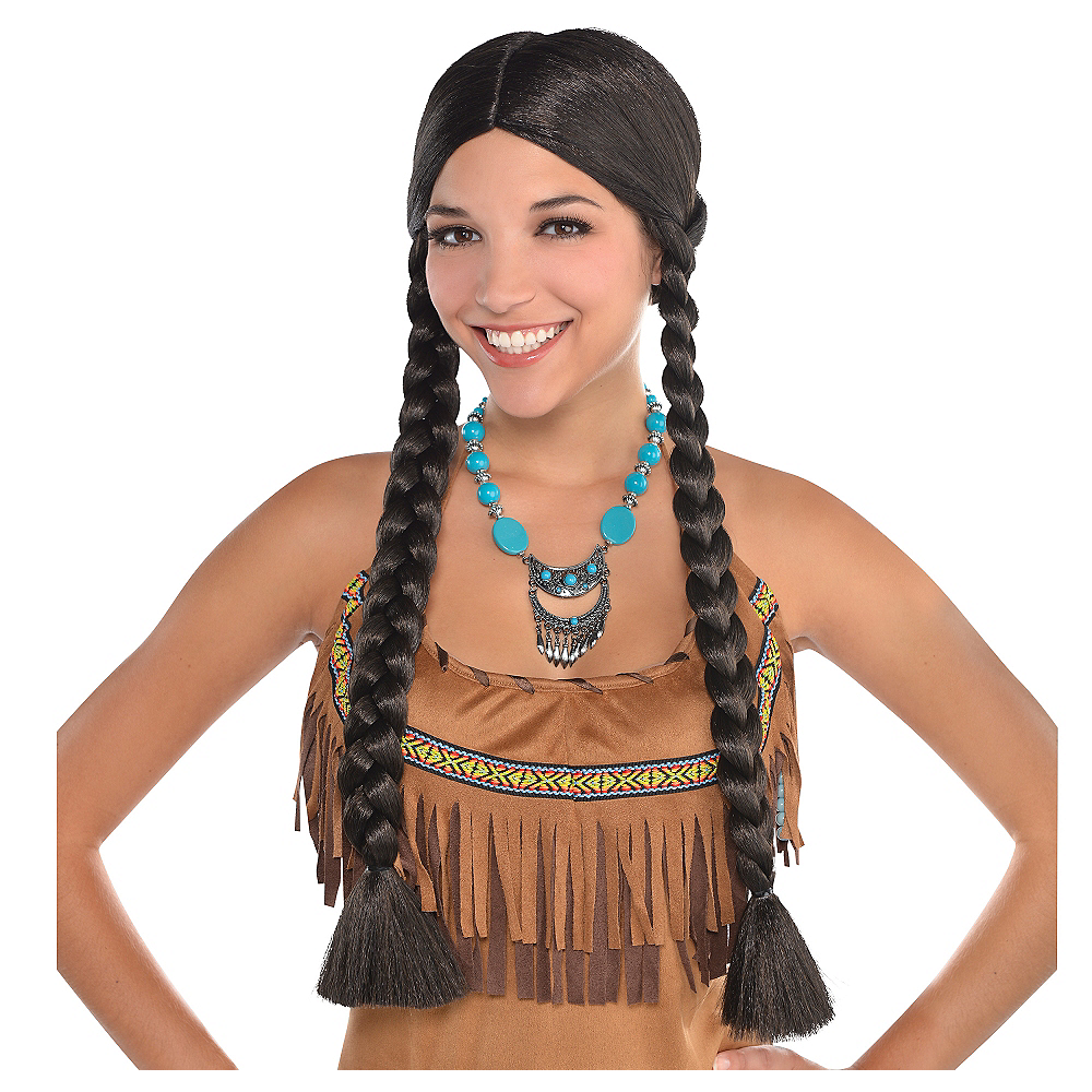 Native American Black Braids Wig Image #1