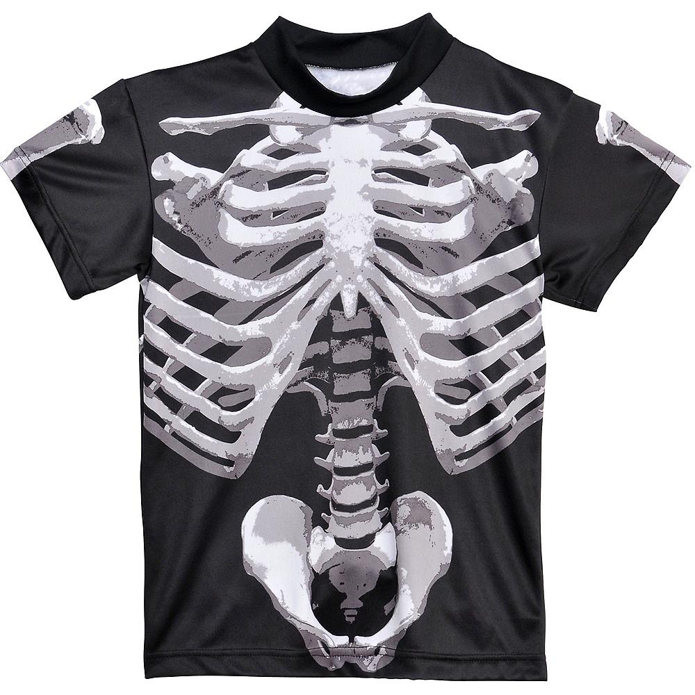 Child Skeleton T-Shirt - Black & Bone Image #2