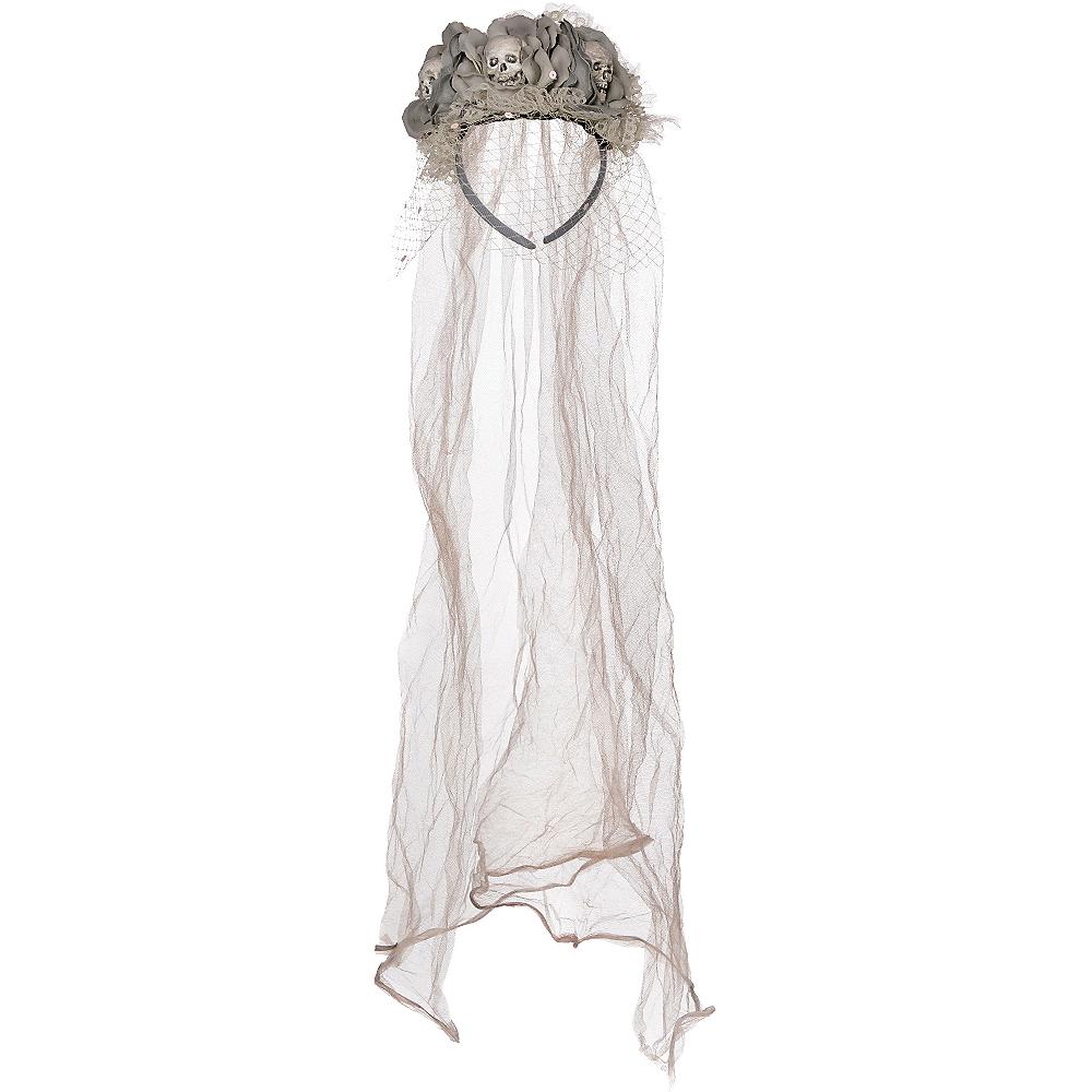 Ghost Bride Skull Veil Headband Couture Image #1