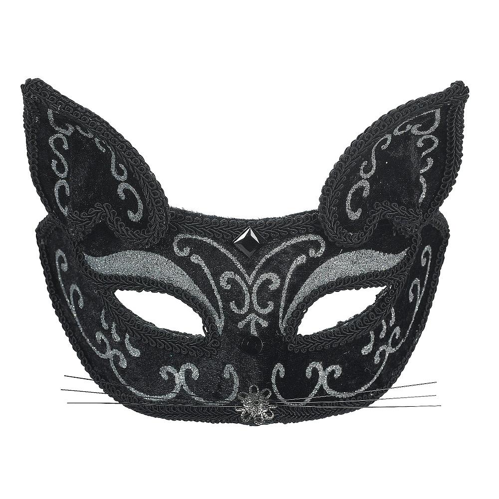 Black Scroll Cat Mask Image #1