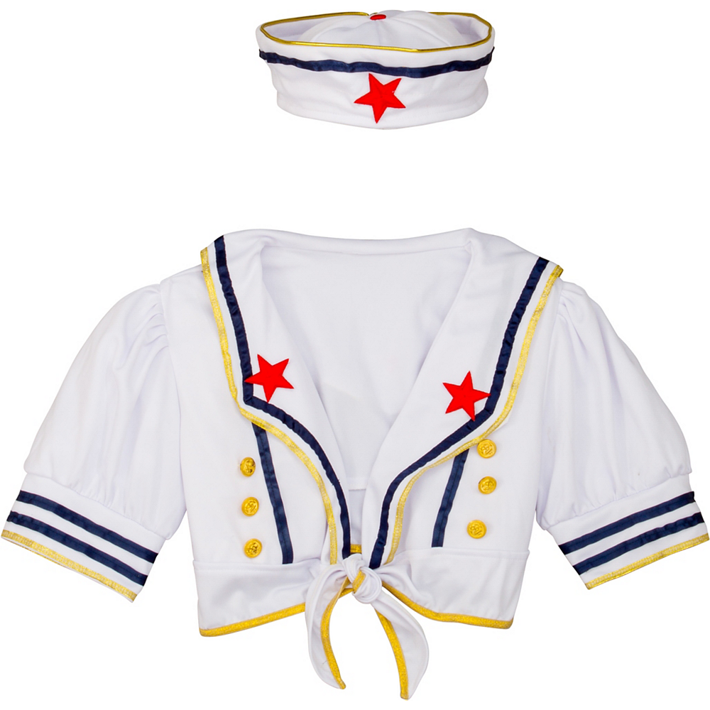 Adult Shore Thing Sailor Costume Accessory Kit 2pc Image #2