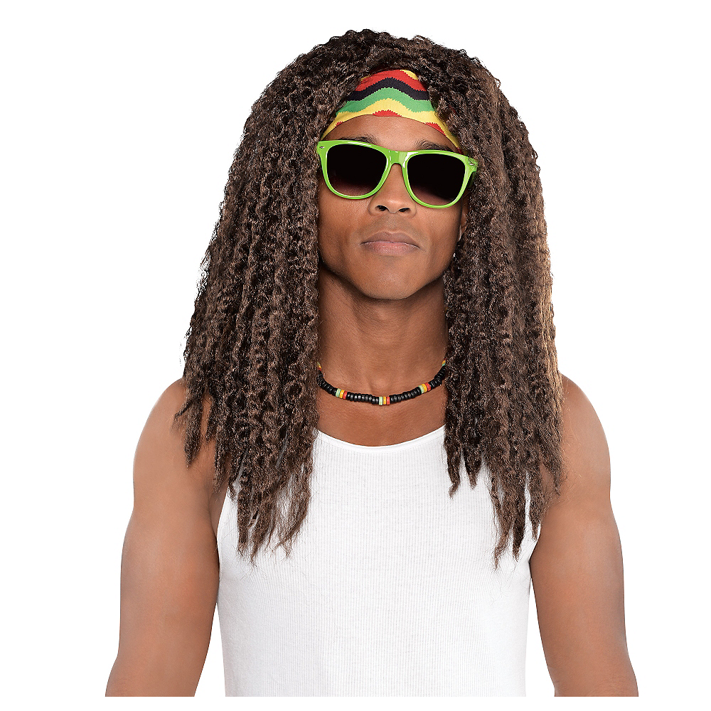Nav Item for Cool Vibrations Rasta Wig Image #1