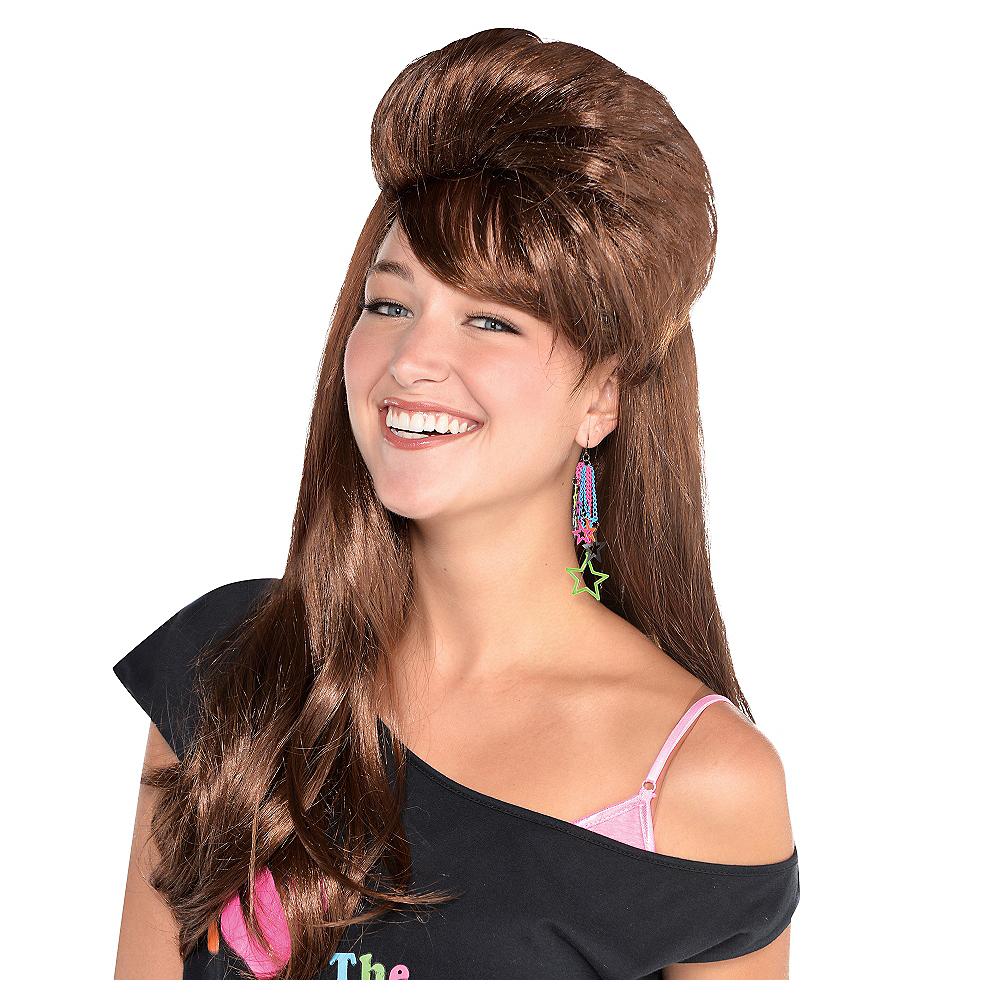 Brown Skool Belle Mullet Wig Image #1