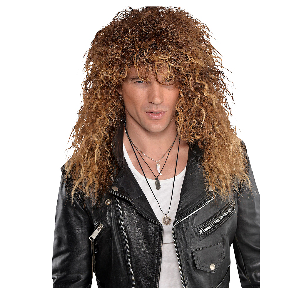 Nav Item for Brown Glam Rocker Wig Image #1