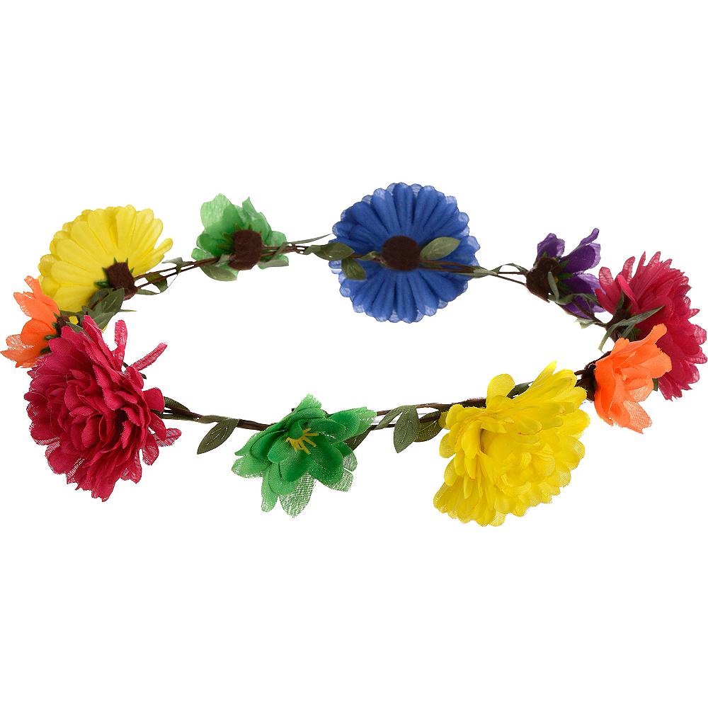 60s Hippie Flower Headwreath Image #1