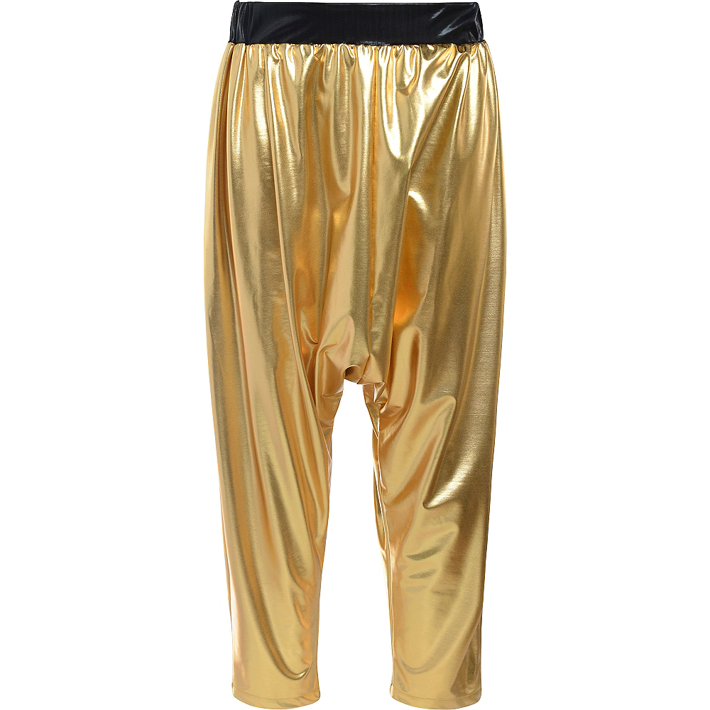 Gold Hip Hop Parachute Pants Image #1