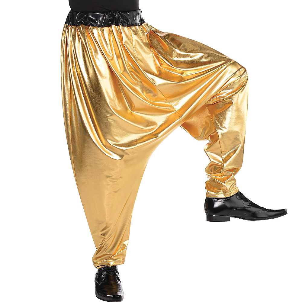 Nav Item for Gold Hip Hop Parachute Pants Image #2