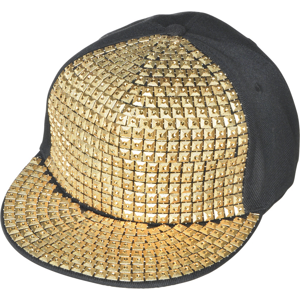 Gold Studded Hip Hop Hat Image  1 8eb168a6020