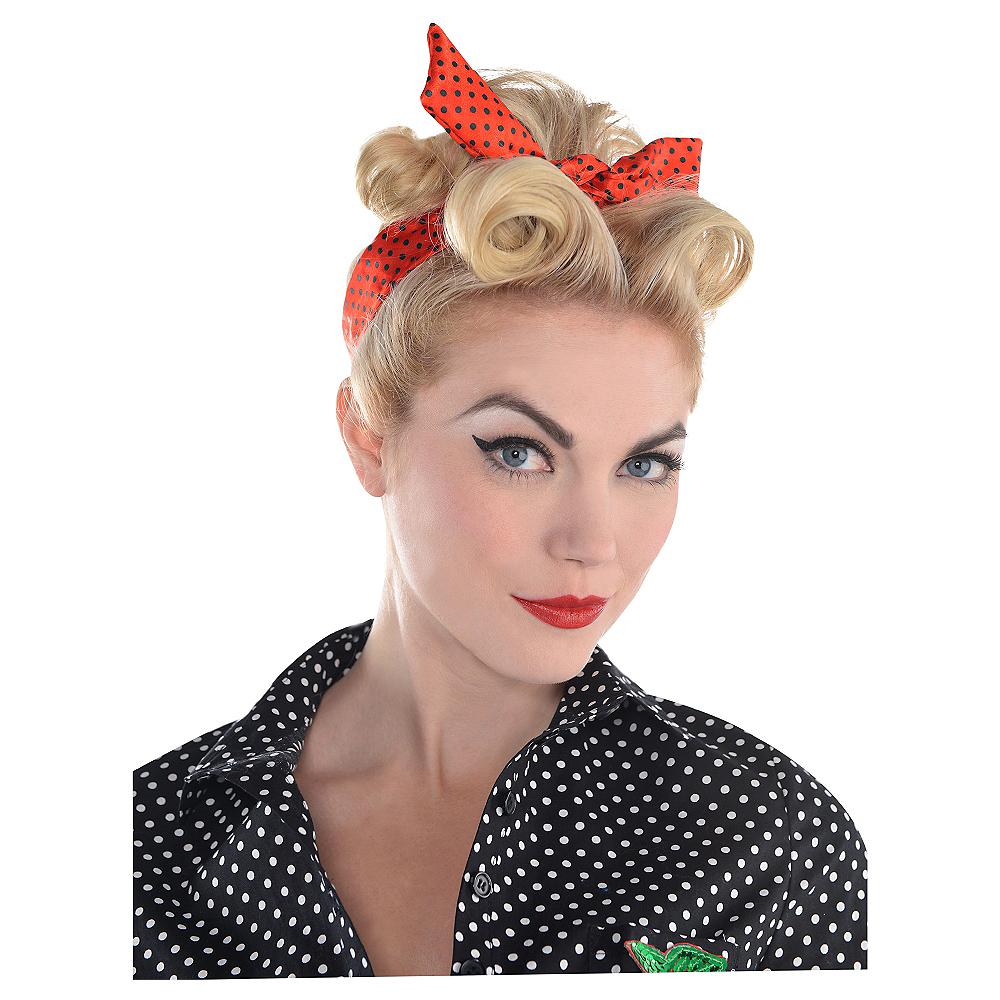 Polka Dot Rockabilly Headscarf Image #2