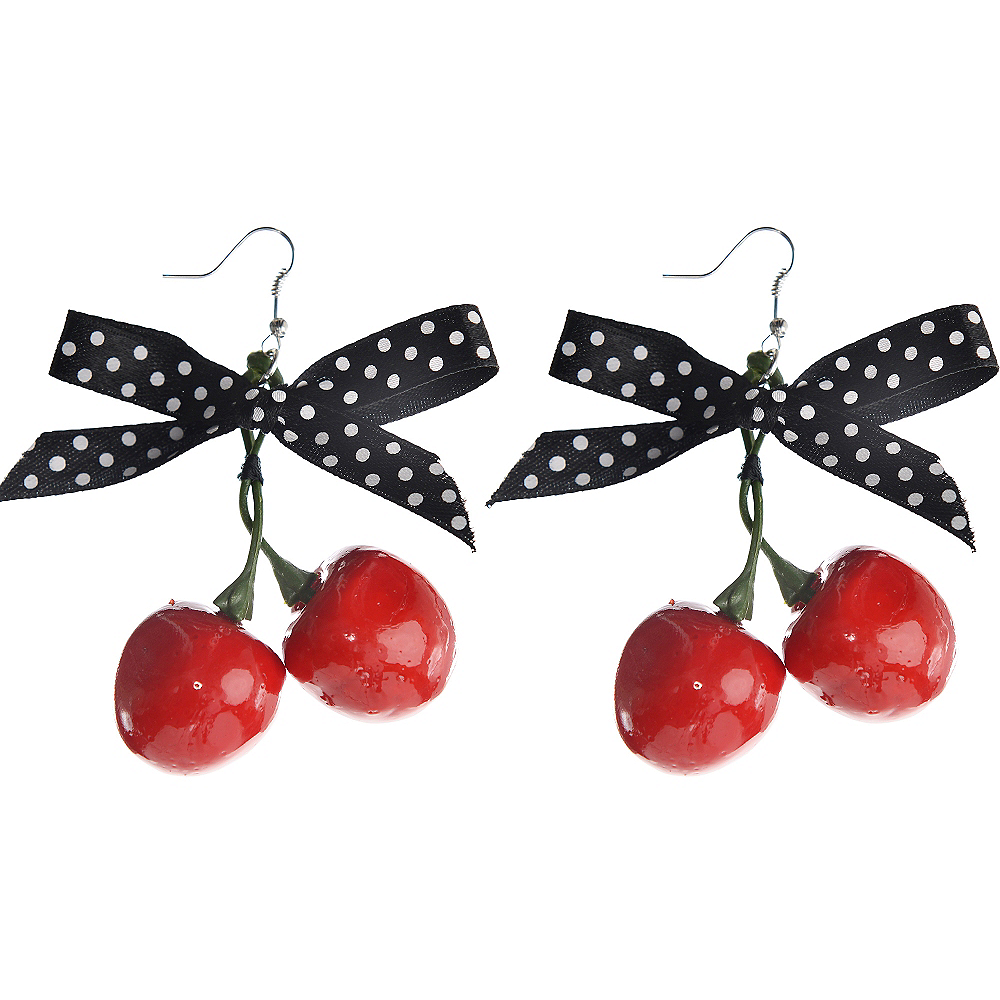 Rockabilly Cherry Earrings Image #1