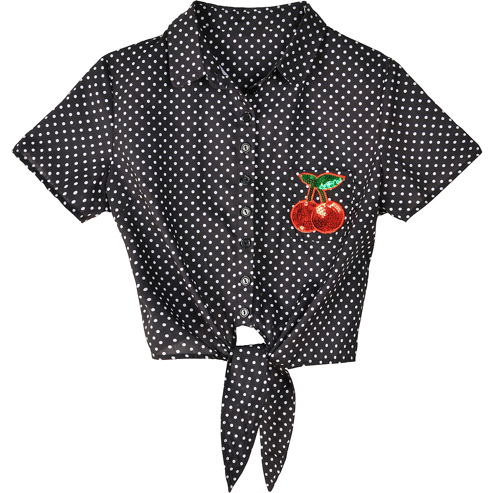 Nav Item for Polka Dot Rockabilly Shirt Image #2