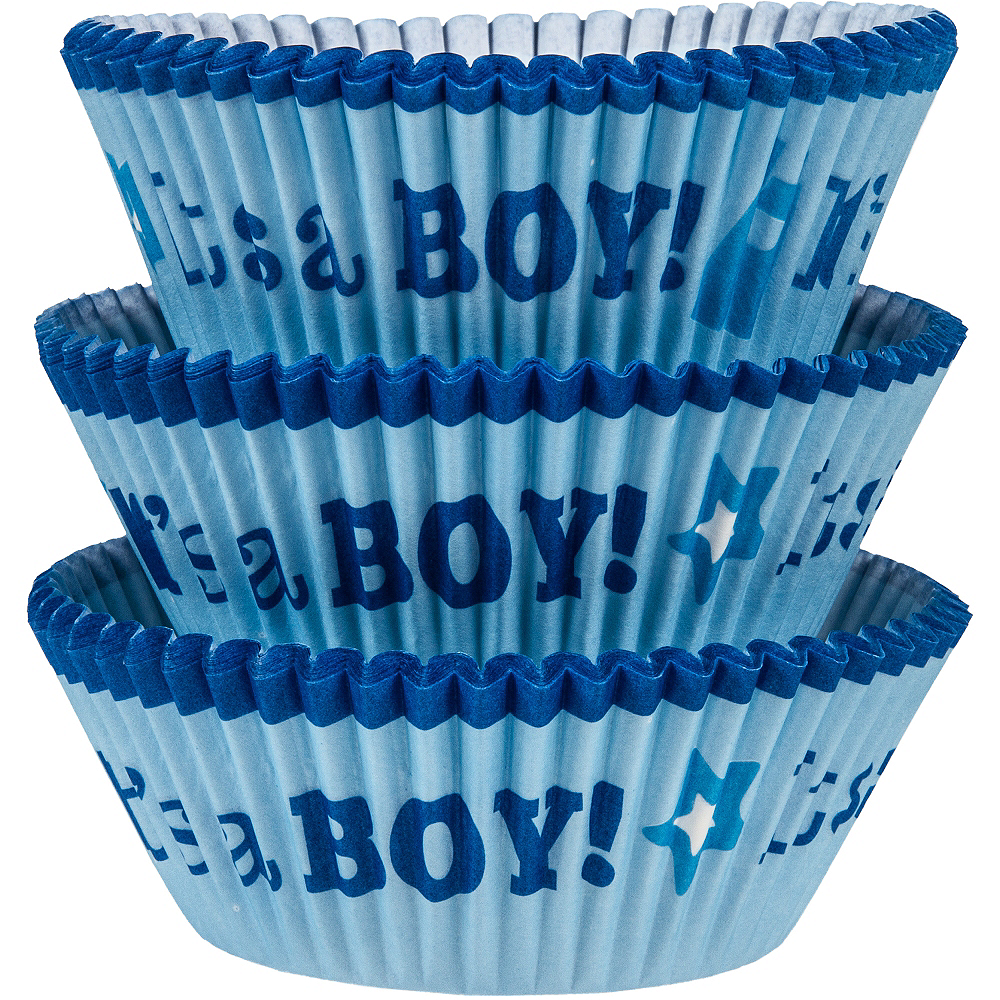 It's a Boy Baking Cups 75ct Image #1
