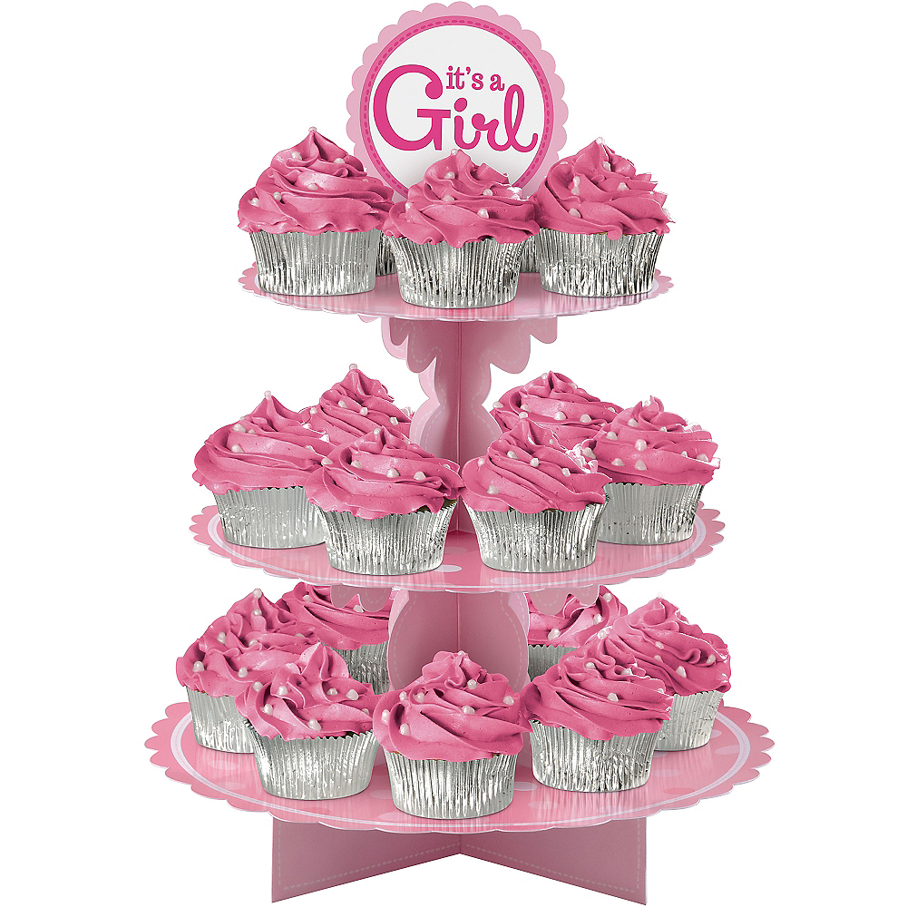 It's a Girl Cupcake Stand Image #1