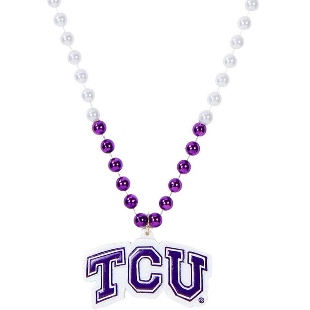 Nav Item for TCU Horned Frogs Pendant Bead Necklace Image #1