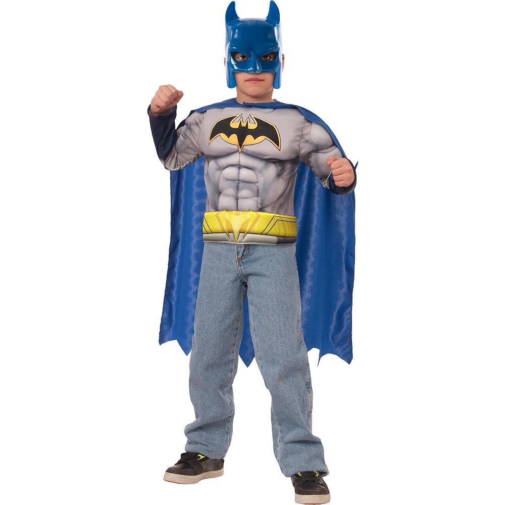 Child Batman Muscle Costume Accessory Kit 3pc Image #1