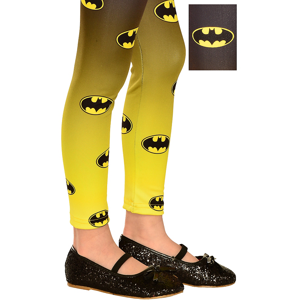 Child Batgirl Footless Tights - Batman Image #1