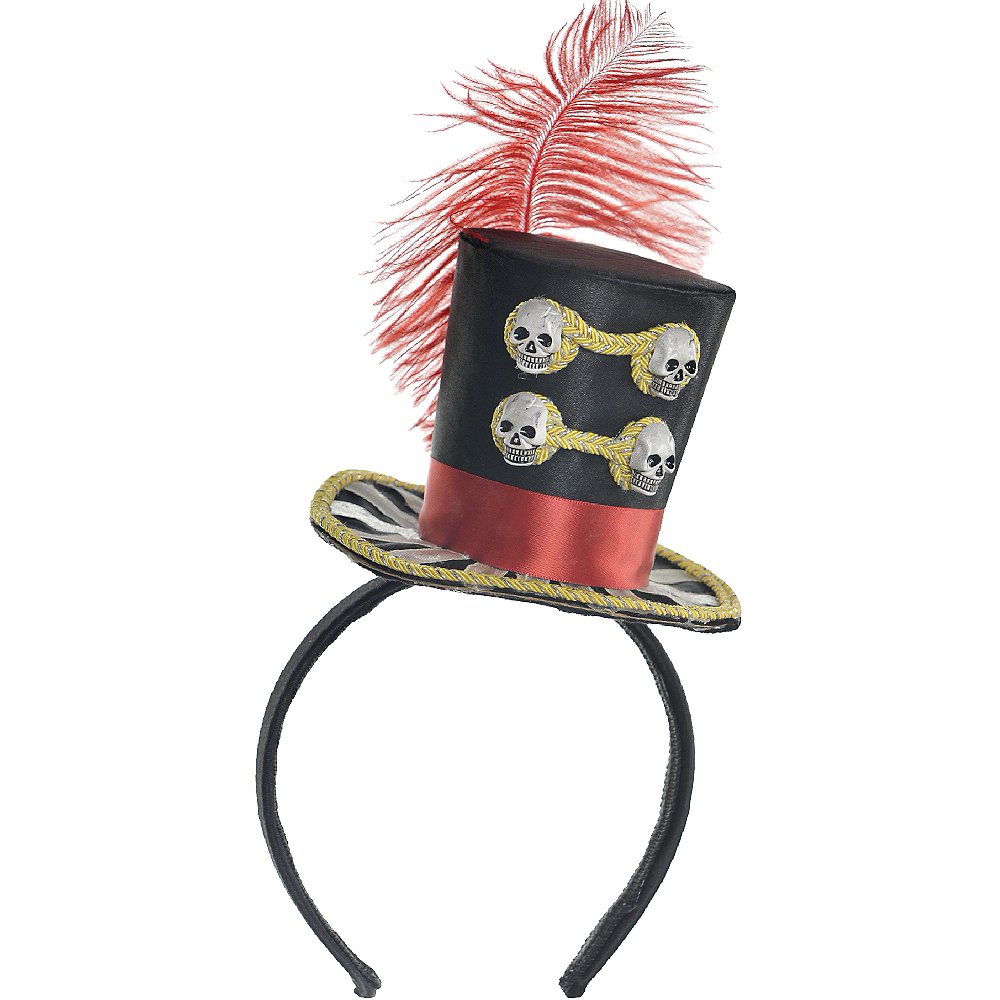 Freak Show Ringmaster Top Hat Headband Image #2