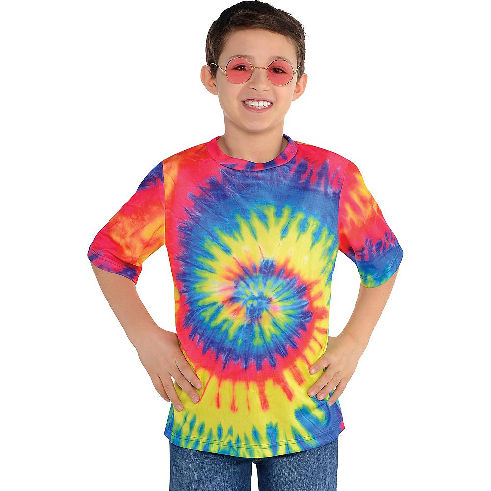 Child 60s Hippie Tie-Dye T-Shirt Image #1