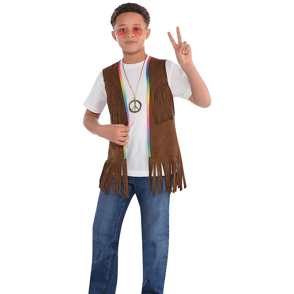 43861918ce0 ... Child 60s Hippie Fringe Vest Image  2 ...