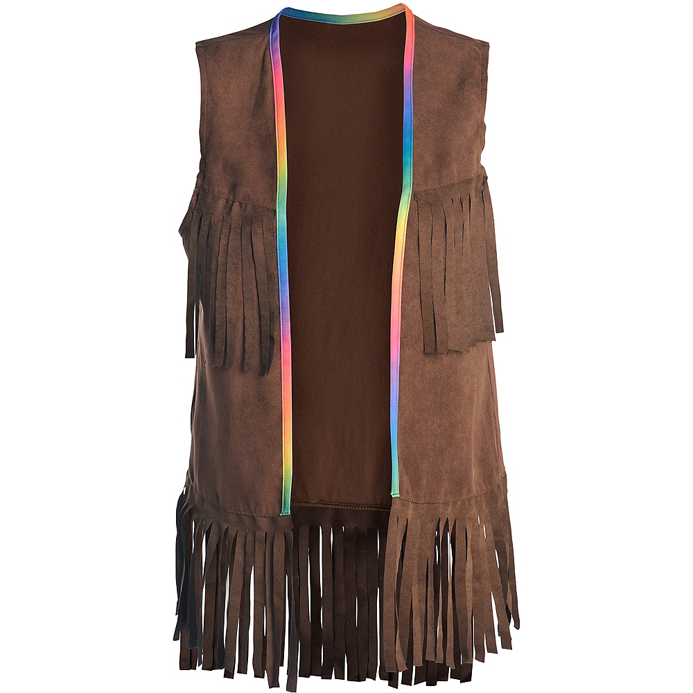 7adb4d88fc8 ... Child 60s Hippie Fringe Vest Image  3