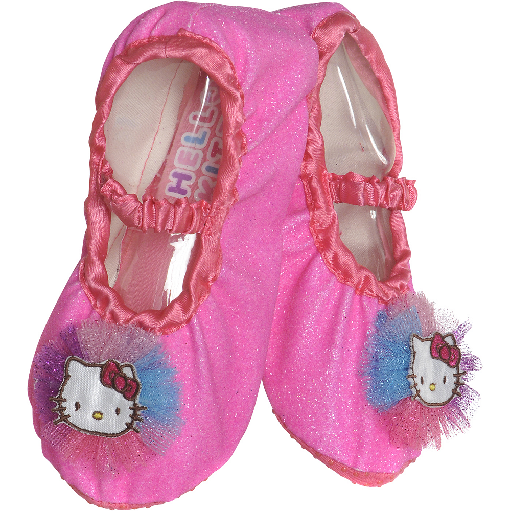 Child Rainbow Hello Kitty Slipper Shoes Image #1