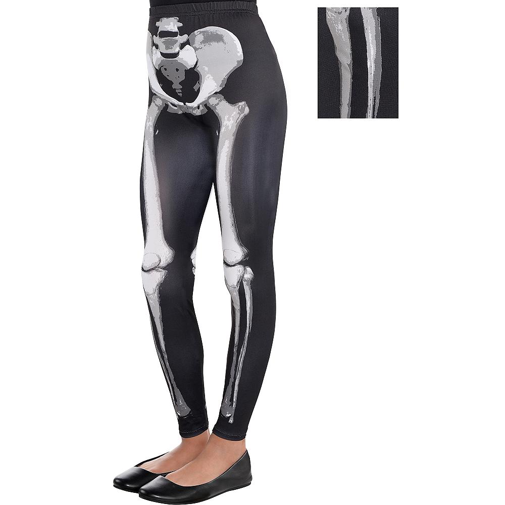 6c4670fdb3e Child Skeleton Leggings - Black   Bone Image  1