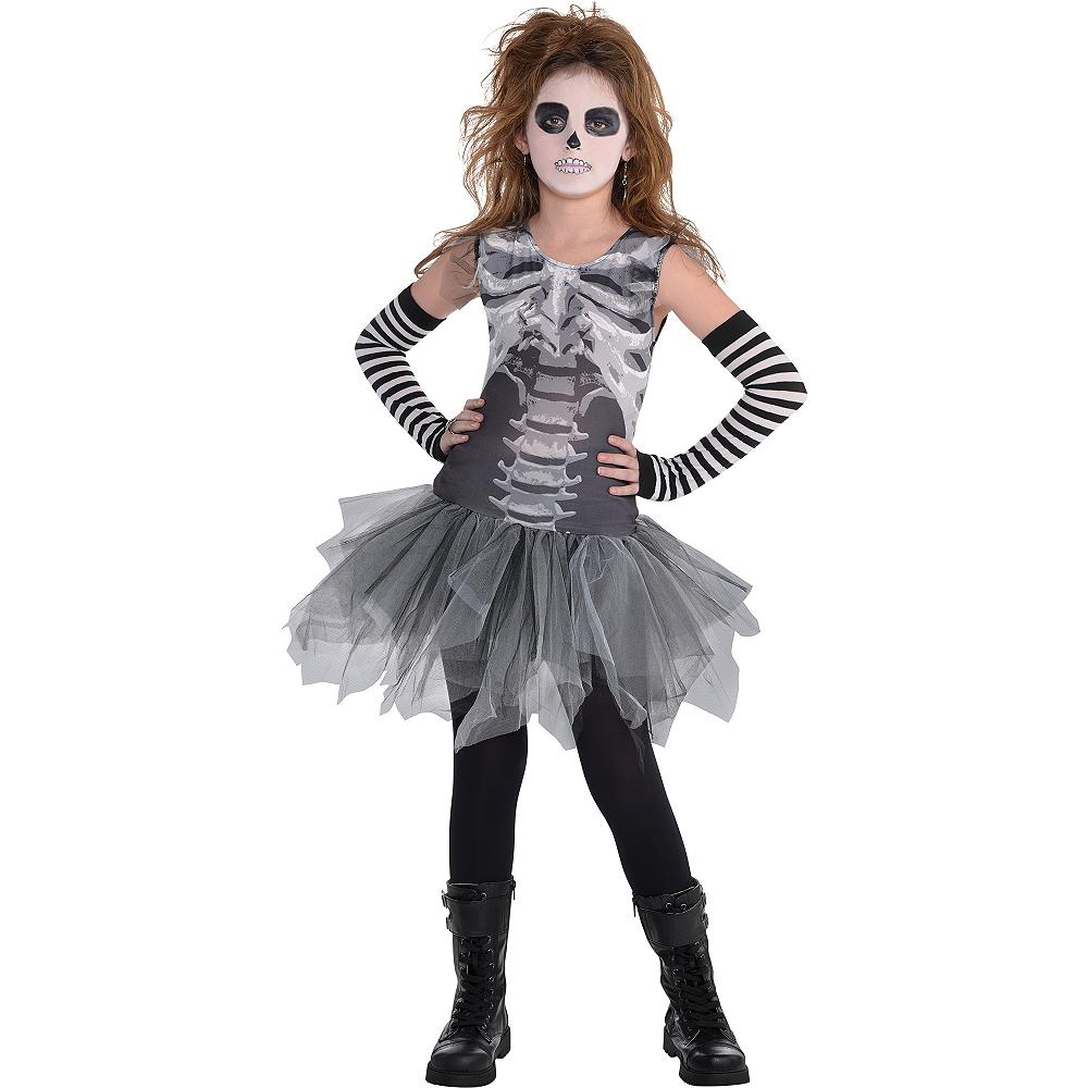 Child Skeleton Tutu Dress - Black & Bone Image #1