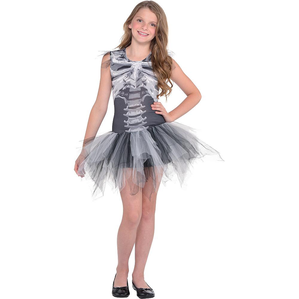 Child Skeleton Tutu Dress - Black & Bone Image #2