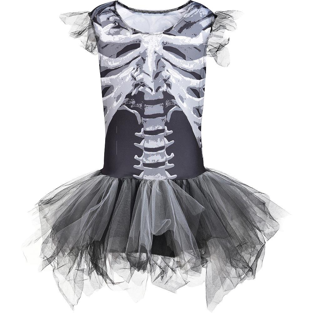 Child Skeleton Tutu Dress - Black & Bone Image #3