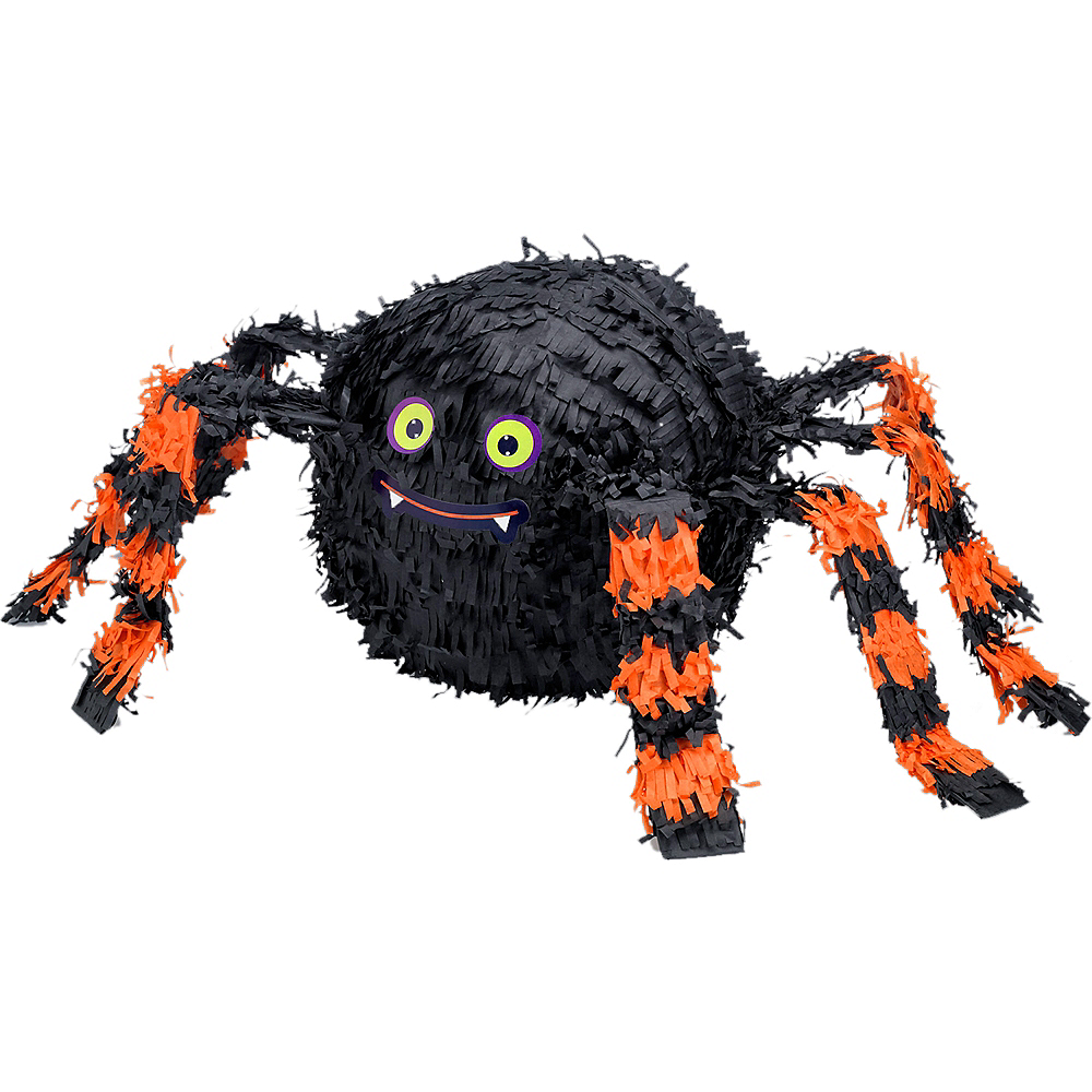 Orange & Black Spider Pinata Image #1
